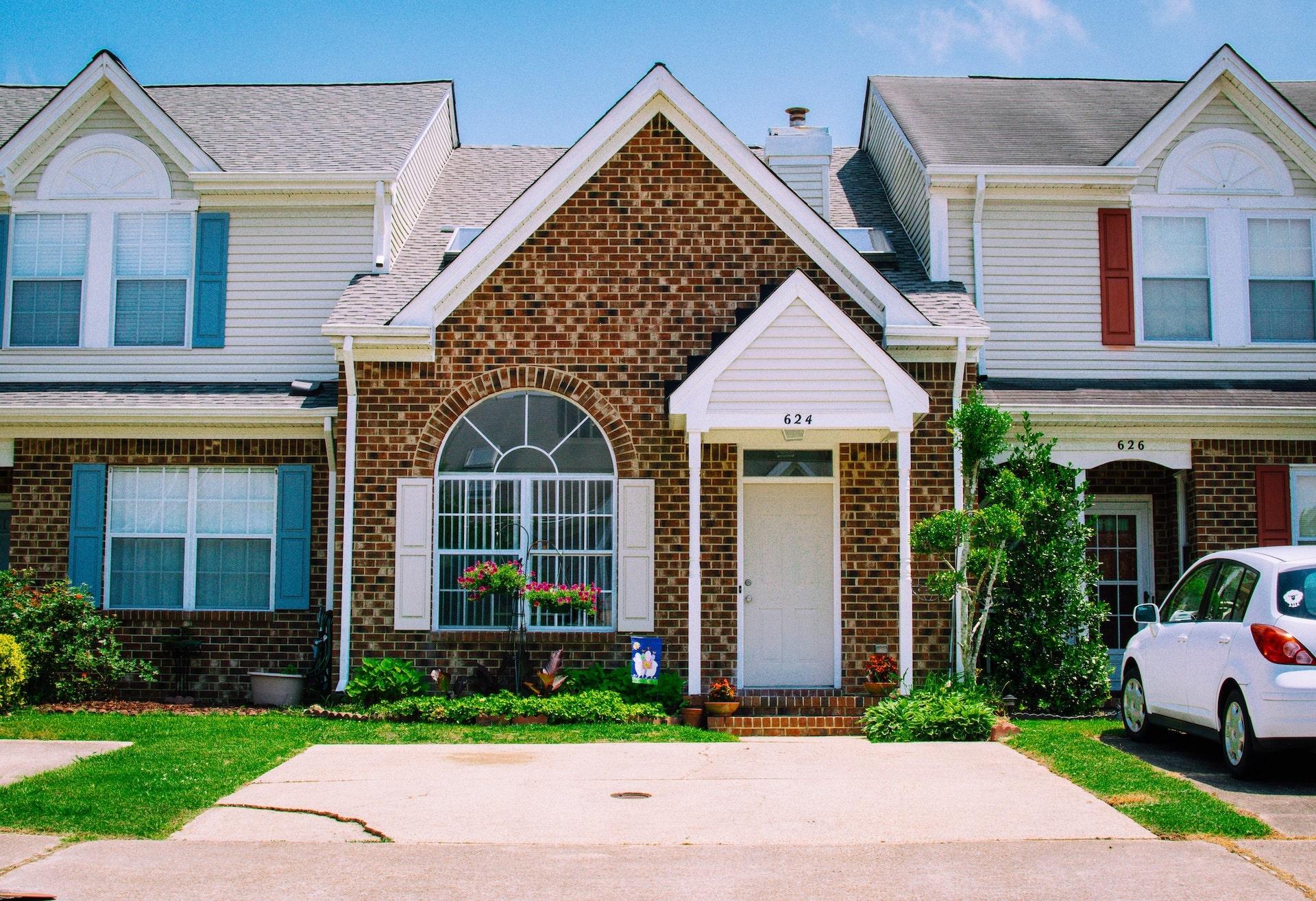 Brick semi-detached home